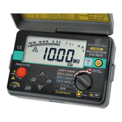 【あす楽対象】【1月おすすめ】KEW 3021A (KEW3021後継品) KYORITSU(共立電気計器) デジタル式 4レンジ絶縁抵抗計 125/250/500/1000V | KYORITSU 絶縁抵抗計 電気計測器