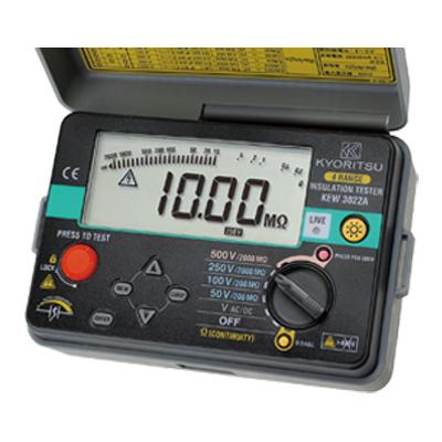 【1月おすすめ】KEW 3022A(KEW3022後継品) KYORITSU(共立電気計器) デジタル式 4レンジ絶縁抵抗計 | KYORITSU 絶縁抵抗計 電気計測器