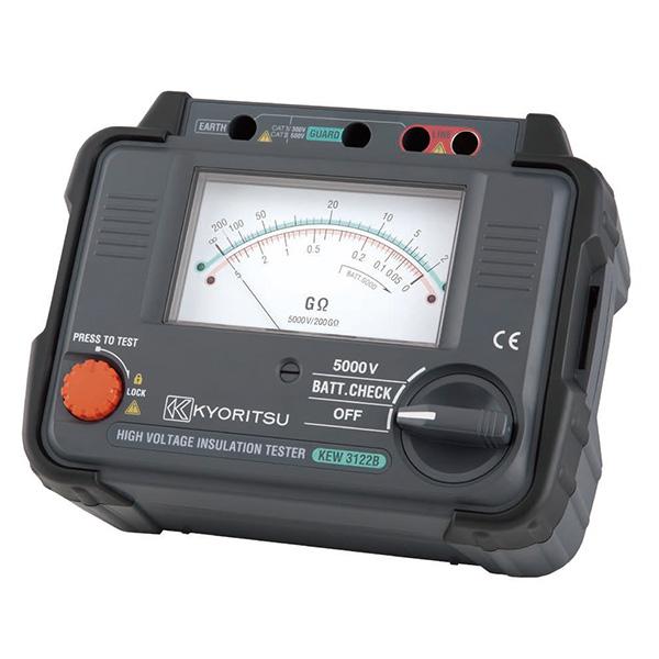 【5月おすすめ】KEW3122B (KEW3122A後継品) 共立電気計器 受変電設備や高電圧機器・電路の絶縁抵抗測定や診断に! 定格測定電圧5000V 高圧絶縁抵抗計