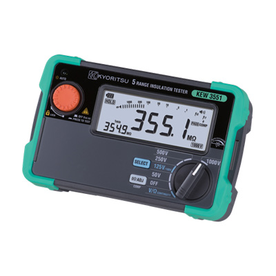 KEW3551 共立電気計器 一瞬で測定!応答速度の大幅アップで作業効率向上!絶縁抵抗計