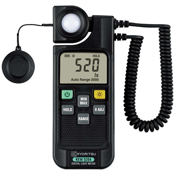 【4月おすすめ】KEW5204 共立電気計器 快適な照度環境実現のために!JIS 一般形A級準拠照度計