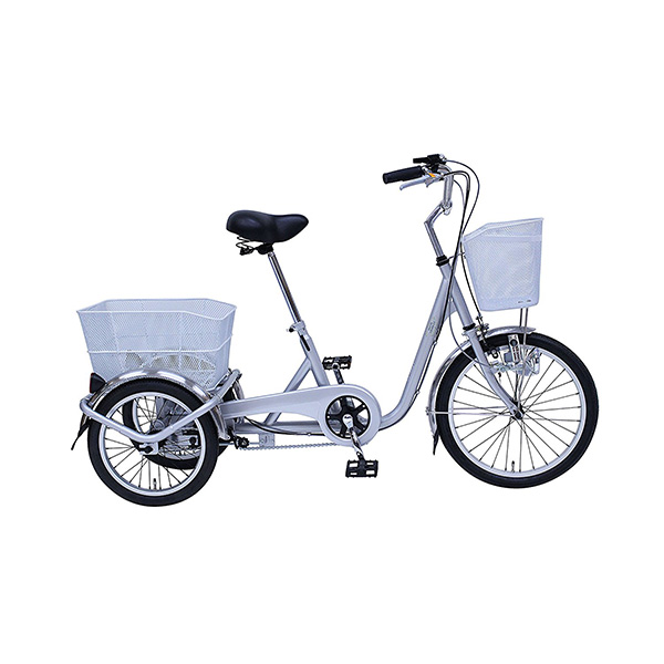 【エントリーでポイント5倍!】MG-TRE20E スイングチャーリー スイング機能搭載!前後バスケット付 20インチ 3輪自転車<メーカー直送品><代引不可>