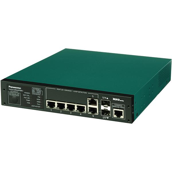 Switch-M5eGPWR+ パナソニック PN28059KB5 全ポートギガ レイヤ2 PoE給電スイッチングハブ 4ポート<5年先出しセンドバック保守バンドル品>
