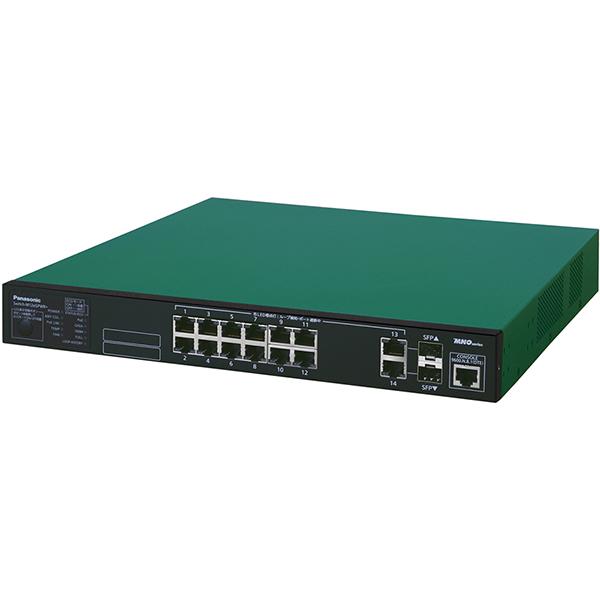 Switch-M12eGPWR+ パナソニック PN28129B5 全ポートギガ レイヤ2 PoE給電スイッチングハブ 12ポート<5年先出しセンドバック保守バンドル品>