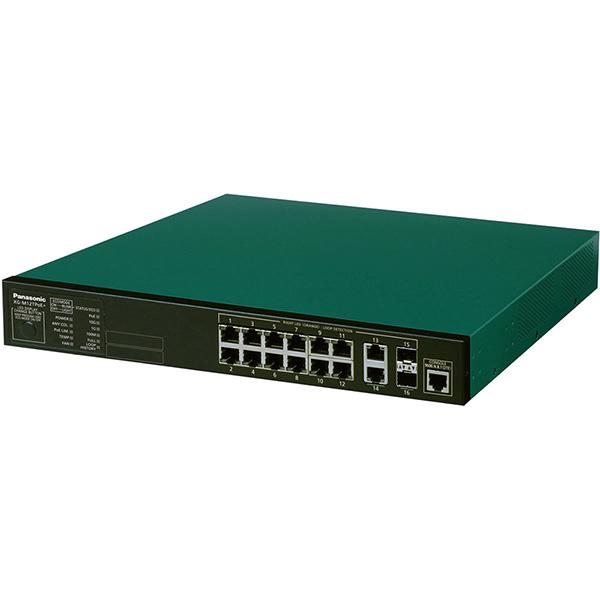 XG-M12TPoE+ パナソニック PN83129B5 全ポートギガ・アップリンク10ギガ レイヤ2 PoE給電スイッチングハブ 12ポート<5年先出しセンドバック保守バンドル品>