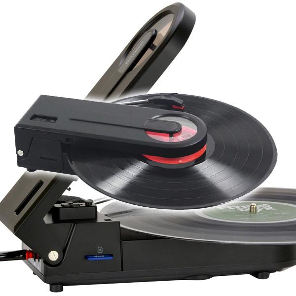 PT-208E ミムゴ 手軽にアナログサウンドが楽しめる!スピーカー内蔵 どこでも聴けるレコードプレーヤー