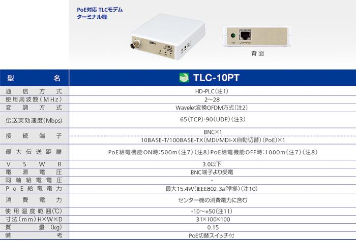 TLC-10PT サン電子 PoE対応 TLCモデムターミナル機