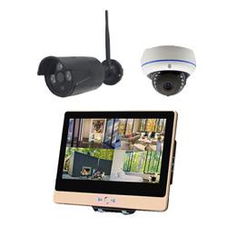 ITW-K1204EW2 屋外設置対応のフルハイビジョンWiFiカメラ2台とネットワークレコーダー機能搭載の12インチ液晶モニターセット バレットカメラ1台 ドームカメラ1台