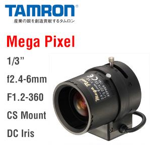 【エントリーでポイント5倍!】M13VG246 タムロン(TAMRON)製メガピクセル対応 焦点距離f2.4-6mmバリフォーカルオートアイリスレンズ   防犯カメラ   監視カメラ   CSマウント   IPカメラ