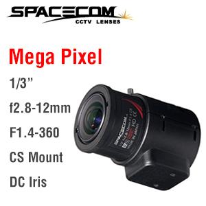 TAV2812DCIR-MP(ヘラクレス) スペース(SPACE)製メガピクセル&Day&Night(赤外線)対応 焦点距離f2.8-12mmバリフォーカルオートアイリスレンズ | 防犯カメラ | 監視カメラ | CSマウント | IPカメラ | 赤外線