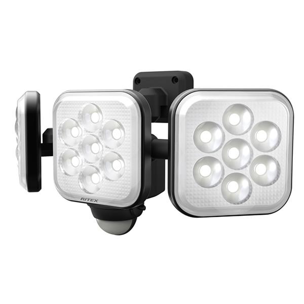 LED-AC3024 RITEX 8W×3灯<ハロゲン450W相当> フリーアーム式LEDセンサーライト | 防犯 | 夜間 | 威嚇 | 空き巣対策 | 泥棒対策