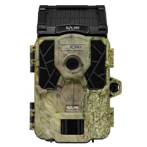 SPY-POINT SOLAR スパイポイント わずか0.07秒の高速トリガーで撮影!ソーラーパネル装備!屋外設置対応赤外線トレイルカメラ 迷彩 スパイポイントソーラー