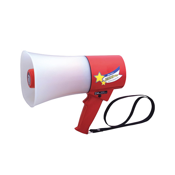 TS-633L noboru(ノボル電機製作所) レイニーメガホン ルミナスメガPlus(6W) サイレン音付 | 拡声器 | メガホン | イベント | 運動会 | 避難訓練 | 誘導 | 防災 | 演説 | 学校 | 消防