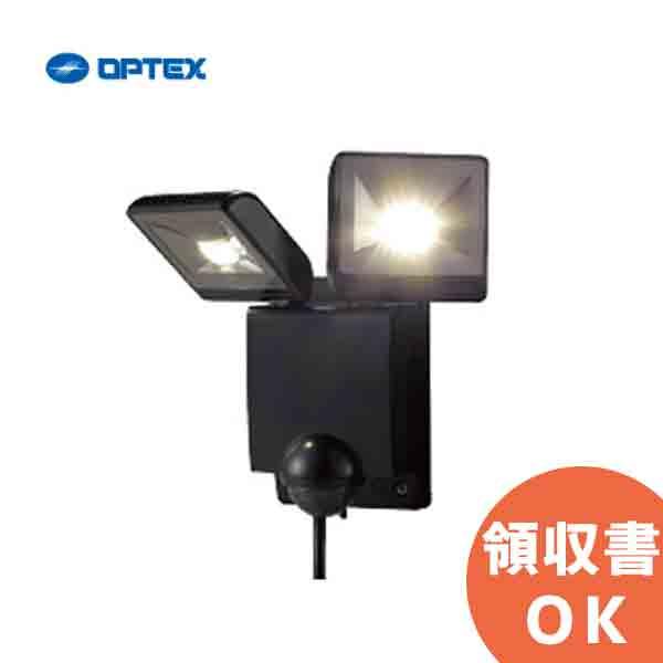 LA-22LED(BL)(ブラック) OPTEX(オプテックス) LEDセンサライトON/OFFタイプ LED二灯タイプ 防犯 車庫 駐車場 庭 玄関 入口 出口【3月おすすめ】