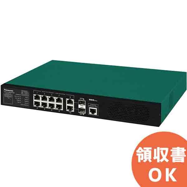 Switch-M8eGPWR+ パナソニック PN28089KB5 全ポートギガ レイヤ2 PoE給電スイッチングハブ 8ポート<5年先出しセンドバック保守バンドル品><代引不可>【時間指定不可】