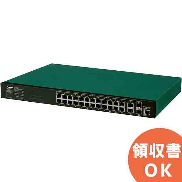 XG-M24TPoE+ パナソニック PN83249B5 全ポートギガ・アップリンク10ギガ レイヤ2 PoE給電スイッチングハブ 24ポート<5年先出しセンドバック保守バンドル品>