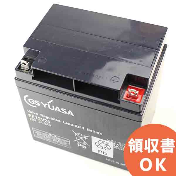 PE12V24B1 GSユアサ製 小形制御弁式鉛蓄電池 PEシリーズ【キャンセル返品不可】