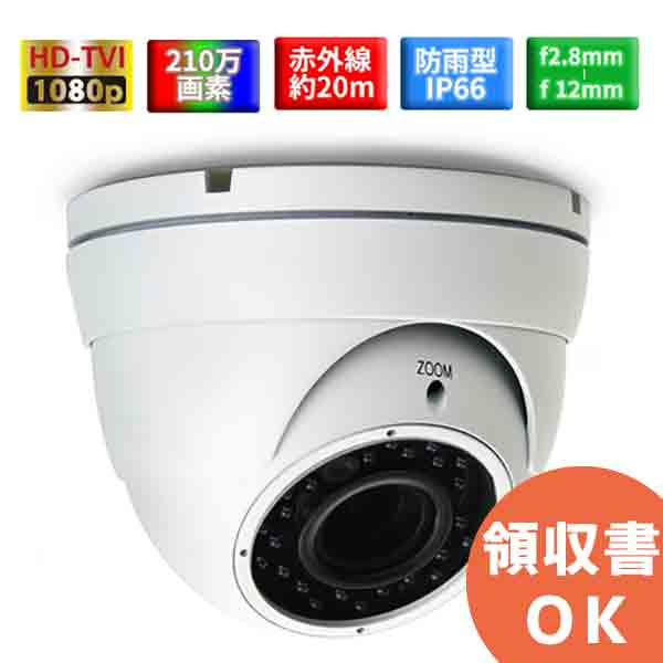 ITC-DG206XN 先進のHD-TVIシステム採用 フルハイビジョン210万画素バリフォーカルレンズ採用防雨型赤外線ドームカメラ   屋外カメラ   監視カメラ   コンビニ   店舗   高画質   高性能   可変焦点   画角調整   防犯カメラ