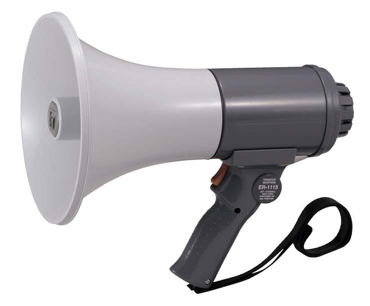 ER-1115 TOA 中型メガホン 15W 防滴タイプ | 拡声器 | メガホン | イベント | 運動会 | 避難訓練 | 誘導 | 防災 | 演説 | 学校 | 消防