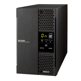 【エントリーでポイント5倍】BA75T オムロン 常時インバータ給電方式UPS(無停電電源装置)で このサイズ出力容量750VA/600W
