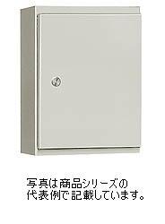 日東工業 FRP樹脂製プラボックスFP-45A塗装色:Nベージュ色(5Y8/1)取付基板:木製基板(15mm)扉形状:片扉