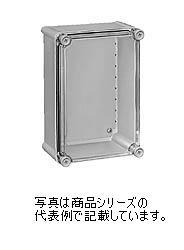 日東工業 PBSポリカボックスPBS18-3856材質:ポリカーボネイト樹脂取付基板:鉄製基板(1.6MM)カバー:ねじ止め式(樹脂製)