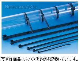 ヘラマンタイトン ABタイ 66ナイロン 耐候グレードAB1000-W(色:黒色 1袋25本入り)結束径φ152~330mm寸法:全長 1095mm 幅 8.9mm