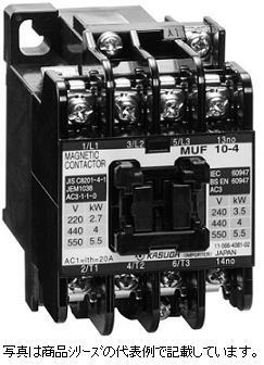 가스가 전기 마그네틱 접촉 기 MUF 10-4 140 (케이스 없음) 코일 전압: AC100V