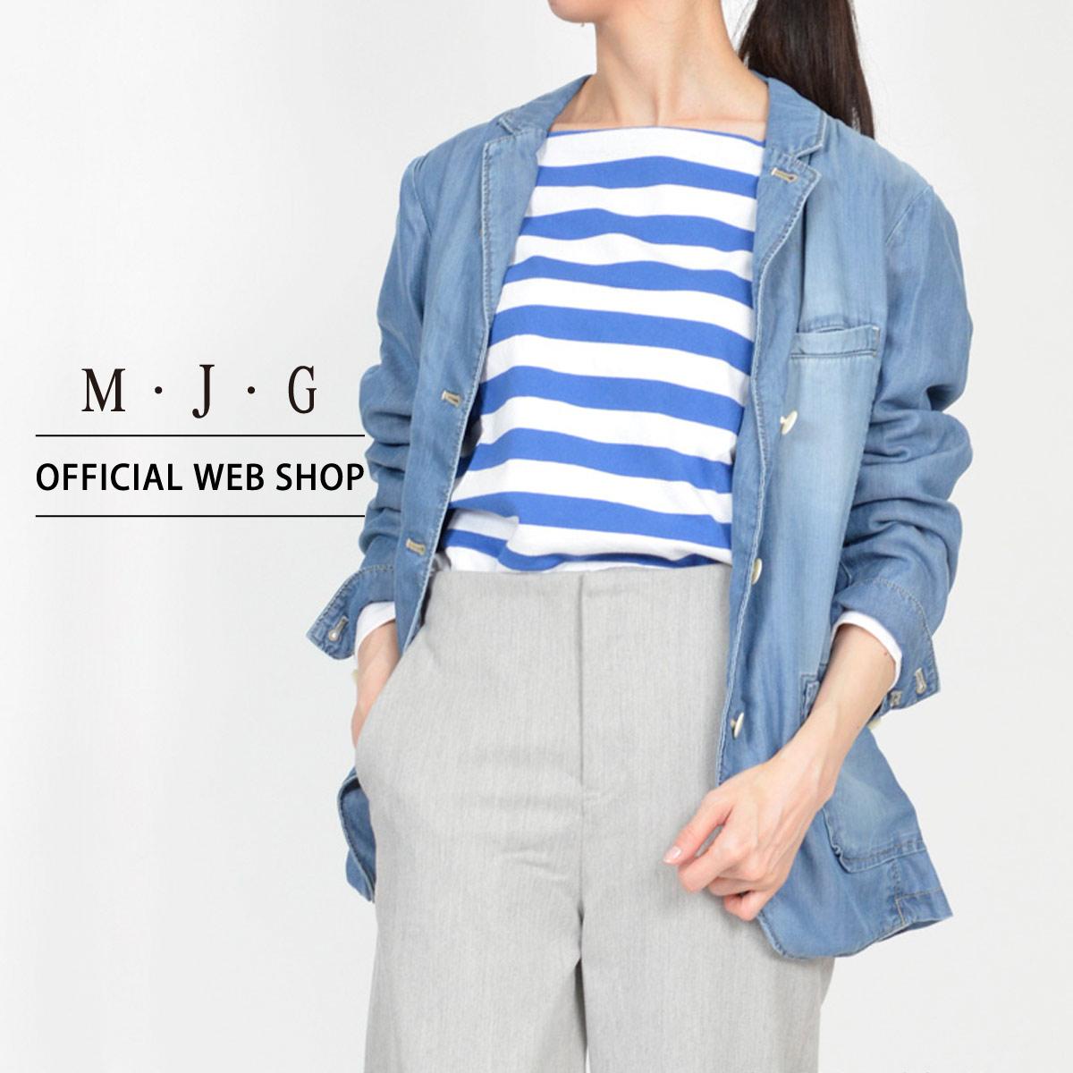 【M・J・G公式】 [SALE] エムジジェ/テンセル素材テーラードジャケット/レディース 中色USED アウター 上着 ジャケット デニム ミセス きれいめ [春夏] GMS612