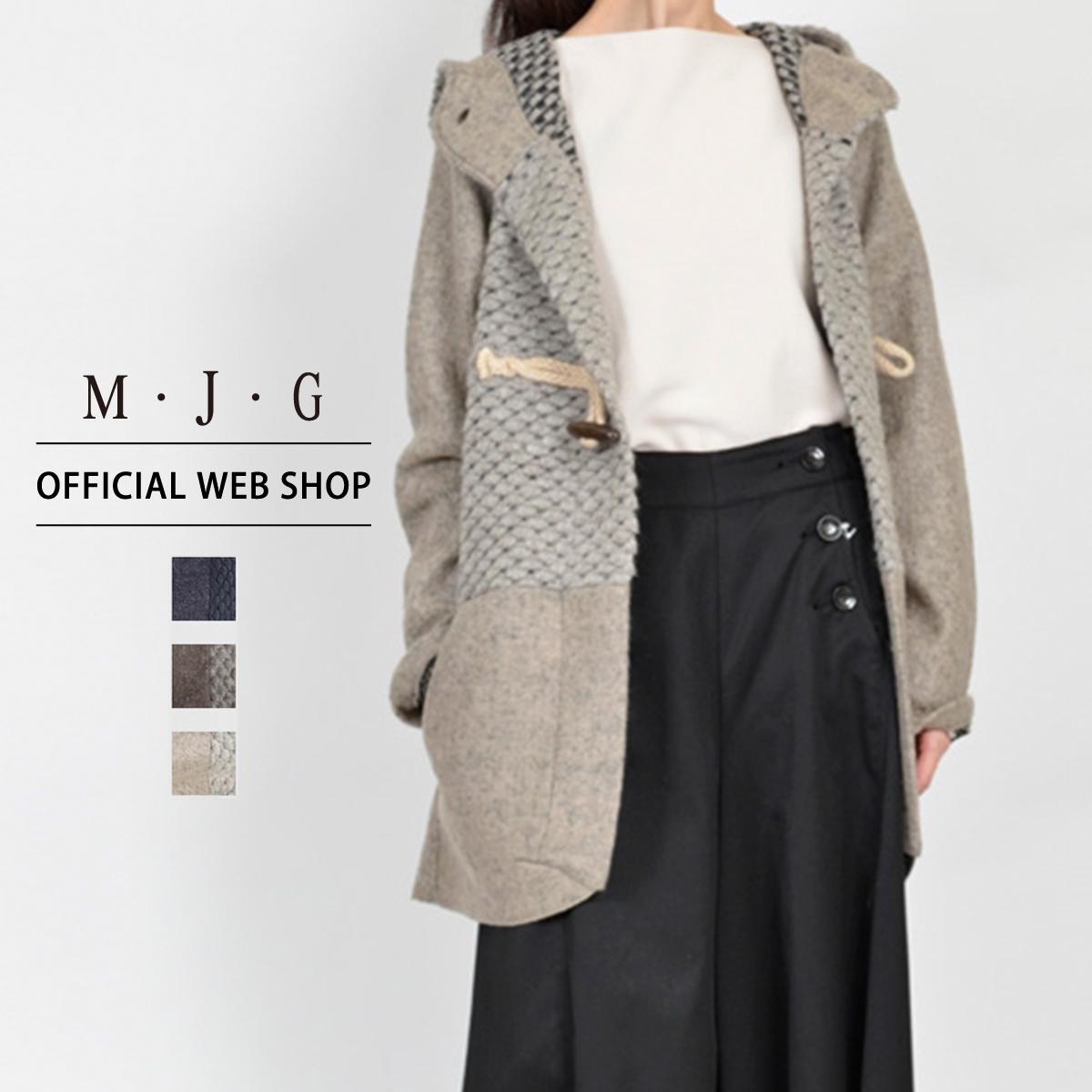 【M・J・G公式】 [SALE] エムジジェ/ダッフルはおり/レディース ネイビー ブラウン スモークベージュ アウター 上着 コート ミセス きれいめ GMT601