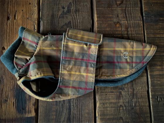 Dog Coat BrooklynWaxed Tartanドッグコート ブルックリンワックスタータンSize2 撥水犬用コート Cloud7 クラウド7 【数量限定!送料無料】【12時までの御注文で即日発送!】【おかげ様で信頼の20周年】