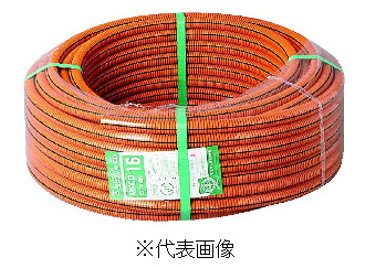未来工業MFCD-16CD管 ミラフレキCD オレンジ ライン10巻セット色グレー