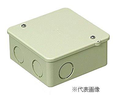 塩ビ付属 PVKボックス 未来工業 PVK-ANJPVKボックス中形四角浅型ノック付 色 ベージュ
