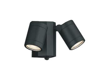 スーパーセールポイント5倍! コイズミ照明AU43321L防雨型スポットライト人感センサ付 白熱球60Wx2灯相当 電球色 塗装色;黒