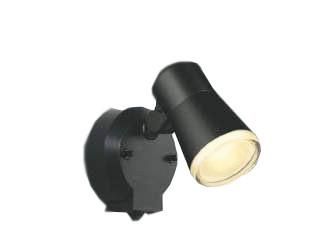 コイズミ照明AUE640554防雨型スポットライト人感センサ付 白熱球60W相当 電球色 塗装色;黒