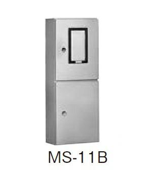 日東工業 MS-11B引込計器盤キャビネット 2段扉水切り、防塵・防水パッキン付ヨコ300mm タテ800mm フカサ200mm塗装色ライトベージュ/クリーム