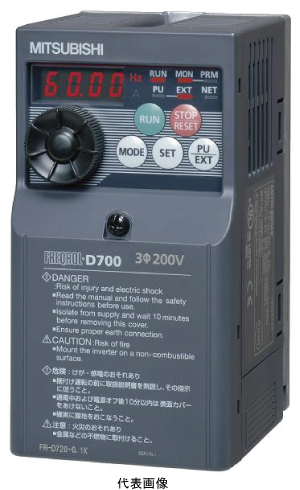 三菱電機FR-D720-2.2K簡単・小形インバータFREQROL-D700シリーズ 三相200V