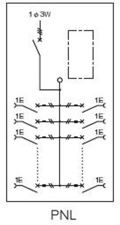 日東工業PNL25-12Jアイセーバ協約形プラグイン電灯分電盤基本タイプ単相3線式主幹250A分岐回路数12色ライトベージュ