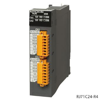 三菱電機RJ71C24-R4MELSEC iQ-RシリーズシリアルコミュニケーションユニットRS-422/485:2ch伝送速度:2ch合計max230.4kbps