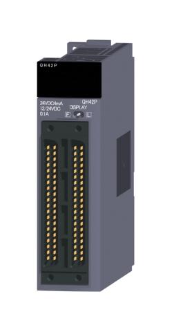 三菱電機QH42PDC入力/トランジスタ出力複合ユニットDC入力:32点トランジスタ出力:32点シンクタイプ40ピンコネクタ×2入出力占有点数:32点