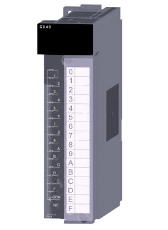 三菱電機QX40汎用シーケンサMELSEC-QシリーズDC入力ユニット(プラスコモンタイプ)DC入力:16点 DC24V 4mA応答時間:1/5/10/20/70ms16点1コモン プラスコモンタイプ18点端子台