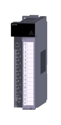 三菱電機QX50汎用シーケンサMELSEC-QシリーズDC(プラスコモン/マイナスコモン共用タイプ)/AC入力ユニットAC/DC入力:16点 AC48V/DC48V 4mA応答時間:20ms16点1コモン プラス,マイナスコモン共用18点端子台