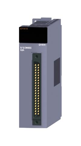 三菱電機QY41Hトランジスタ高速出力ユニット(シンクタイプ)トランジスタ出力:32点DC5~24V 0.2A/1点,2A/1コモン応答時間:2?s32点1コモン シンクタイプ40ピンコネクタ