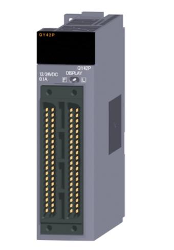 三菱電機QY42Pトランジスタ出力ユニット(シンクタイプ)トランジスタ出力:64点DC12~24V 0.1A/1点,2A/1コモン応答時間:1ms32点1コモン シンクタイプ40ピンコネクタ×2