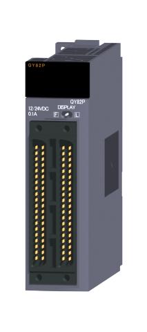三菱電機QY82Pトランジスタ出力ユニット(ソースタイプ)トランジスタ出力:64点DC12~24V 0.1A/1点,2A/1コモン応答時間:1ms32点1コモン ソースタイプ40ピンコネクタ×2