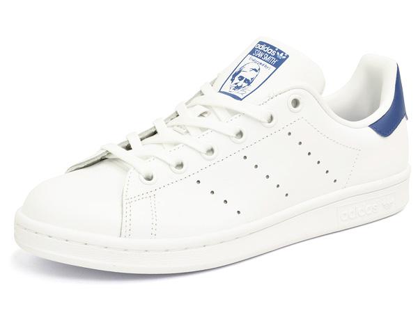 save off ce7ed 32e22 J the adidas Stan Smith white  white  blue S74778 adidas STAN SMITH J  FTWWHTFTWWHTEQTBLU WHITEWHITEBLUE