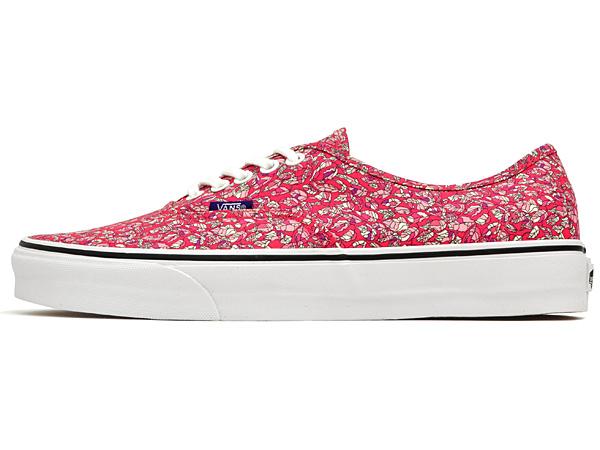 vans liberty leaves pink