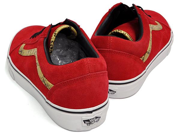 old skool red vans