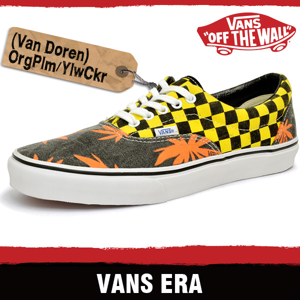 vans era checkerboard black & natural skate shoes