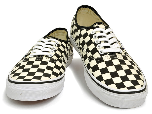 Vans authentic (many) black and white Checker VANS AUTHENTIC (GOLDEN COAST)  BLACK WHITE CHECKER black white check vans cut classic sneakers mens skate  shoes ... d941f694d